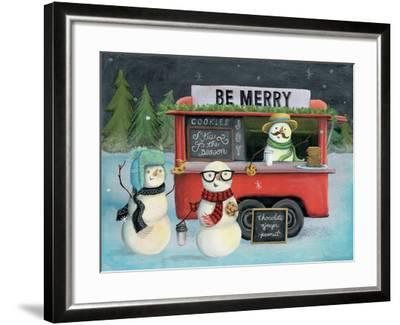 Christmas on Wheels III Light-Mary Urban-Framed Art Print