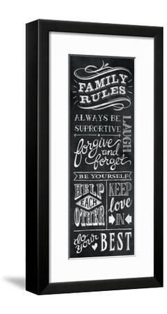 Family Rules I-Mary Urban-Framed Art Print