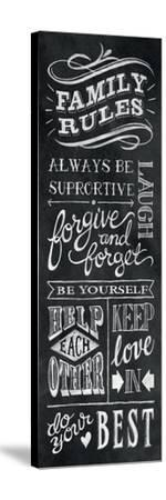 Family Rules I-Mary Urban-Stretched Canvas Print