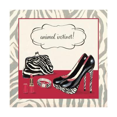 Animal Instinct Red-Marco Fabiano-Framed Art Print