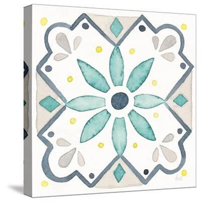 Garden Getaway Tile V White-Laura Marshall-Stretched Canvas Print