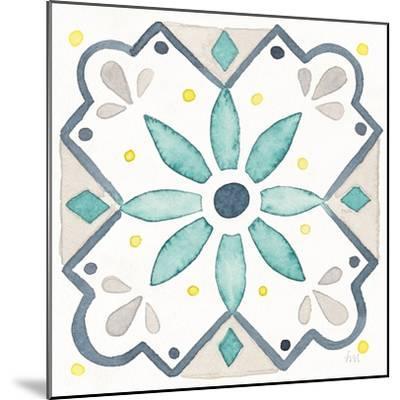 Garden Getaway Tile V White-Laura Marshall-Mounted Art Print