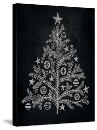 Chalkboard Holiday Trees II-Mary Urban-Stretched Canvas Print