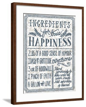 Ingredients For Life Ditzy Floral II Neutral-Mary Urban-Framed Art Print