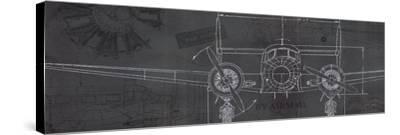 Plane Blueprint IV-Marco Fabiano-Stretched Canvas Print
