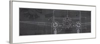 Plane Blueprint IV-Marco Fabiano-Framed Art Print
