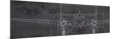 Plane Blueprint IV-Marco Fabiano-Mounted Art Print