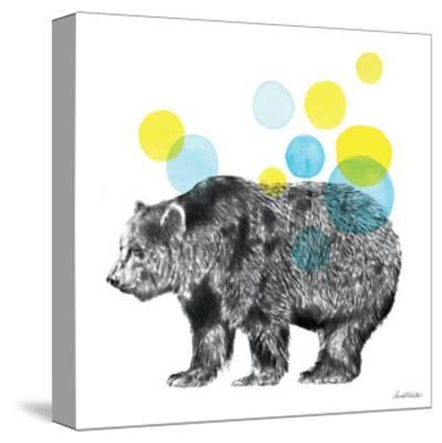 Sketchbook Lodge Bear-Lamai McCartan-Stretched Canvas Print
