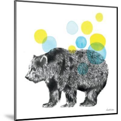 Sketchbook Lodge Bear-Lamai McCartan-Mounted Art Print