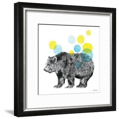 Sketchbook Lodge Bear-Lamai McCartan-Framed Art Print