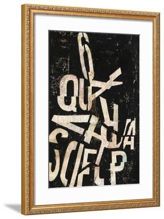 Type Abstraction II-Mary Urban-Framed Art Print
