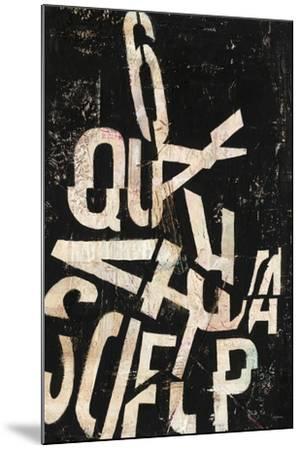 Type Abstraction II-Mary Urban-Mounted Art Print