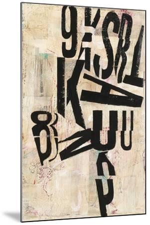 Type Abstraction I-Mary Urban-Mounted Art Print