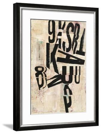 Type Abstraction I-Mary Urban-Framed Art Print