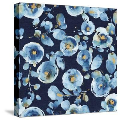 Indigold Flower Toss Indigo-Lisa Audit-Stretched Canvas Print