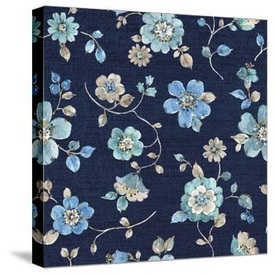 Indigold Flowers Mini trail Indigo-Lisa Audit-Stretched Canvas Print