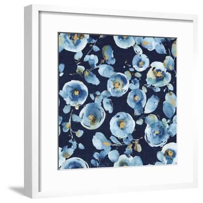 Indigold Flower Toss Indigo-Lisa Audit-Framed Art Print