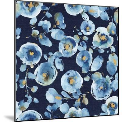 Indigold Flower Toss Indigo-Lisa Audit-Mounted Art Print