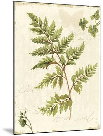 Ivies and Ferns I no Dragonfly-Lisa Audit-Mounted Art Print