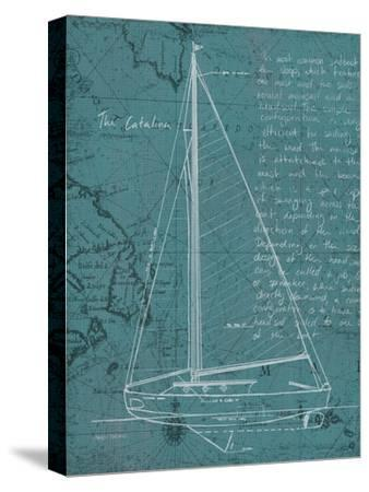 Coastal Blueprint VI-Marco Fabiano-Stretched Canvas Print