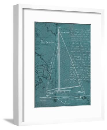 Coastal Blueprint VI-Marco Fabiano-Framed Art Print