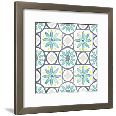 Garden Getaway Pattern XV-Laura Marshall-Framed Art Print