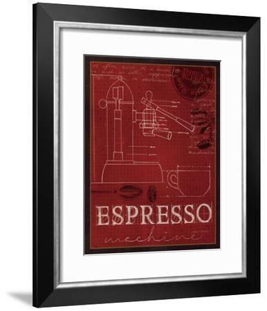 Coffee Blueprint IV v-Marco Fabiano-Framed Art Print