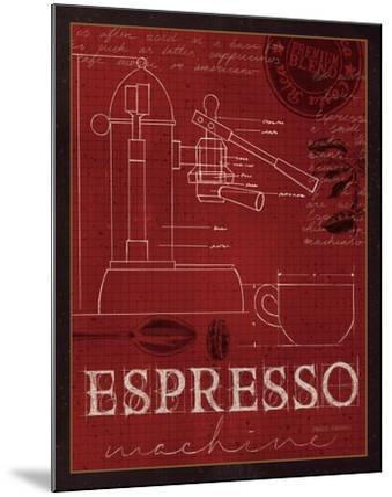 Coffee Blueprint IV v-Marco Fabiano-Mounted Art Print