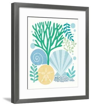 Under Sea Treasures VI Sea Glass-Michael Mullan-Framed Art Print
