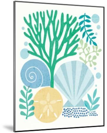 Under Sea Treasures VI Sea Glass-Michael Mullan-Mounted Art Print