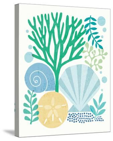 Under Sea Treasures VI Sea Glass-Michael Mullan-Stretched Canvas Print