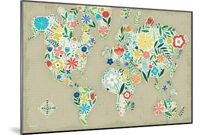 Floral World Tan-Michael Mullan-Mounted Art Print