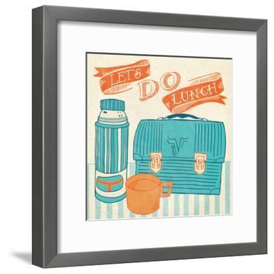 Lets Do Lunch Orange-Mary Urban-Framed Art Print
