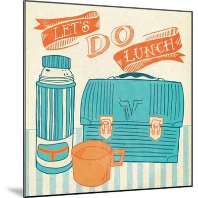 Lets Do Lunch Orange-Mary Urban-Mounted Art Print