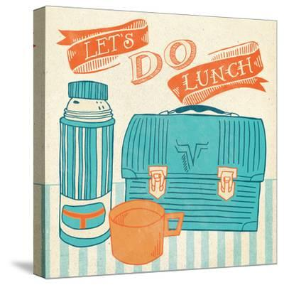 Lets Do Lunch Orange-Mary Urban-Stretched Canvas Print
