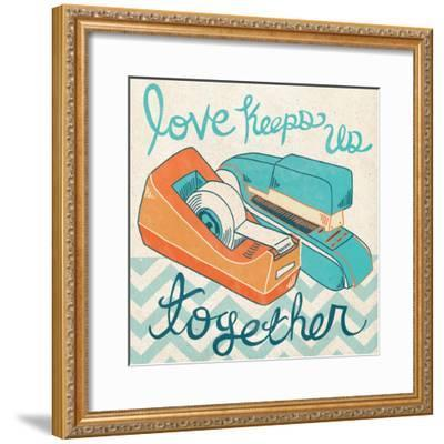 Love Keeps Us Together Orange-Mary Urban-Framed Art Print