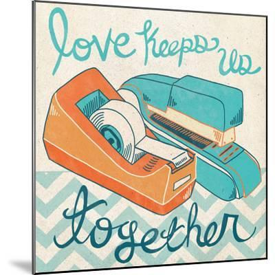 Love Keeps Us Together Orange-Mary Urban-Mounted Art Print