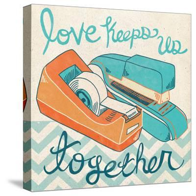 Love Keeps Us Together Orange-Mary Urban-Stretched Canvas Print