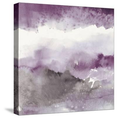 Midnight at the Lake III Amethyst and Grey-Mike Schick-Stretched Canvas Print