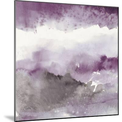 Midnight at the Lake III Amethyst and Grey-Mike Schick-Mounted Art Print