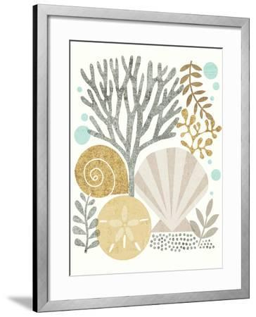 Under Sea Treasures V Gold Neutral-Michael Mullan-Framed Art Print