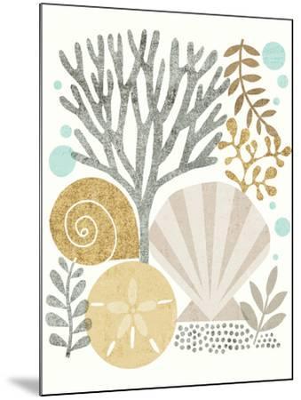 Under Sea Treasures V Gold Neutral-Michael Mullan-Mounted Art Print