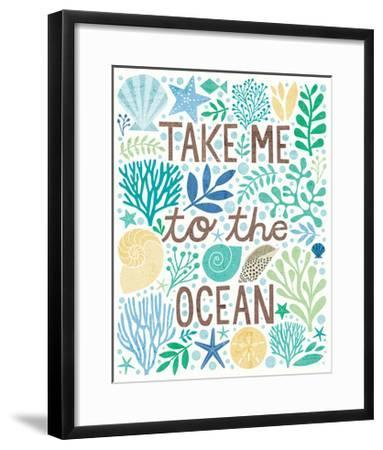 Under Sea Treasures IV Sea Glass-Michael Mullan-Framed Art Print