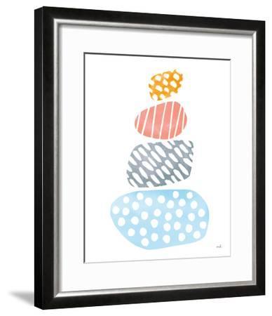 River Stones II Bright-Moira Hershey-Framed Art Print