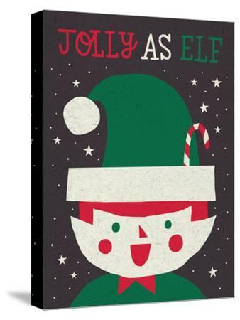Jolly Holiday Elf-Michael Mullan-Stretched Canvas Print