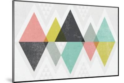 Mod Triangles II-Michael Mullan-Mounted Art Print