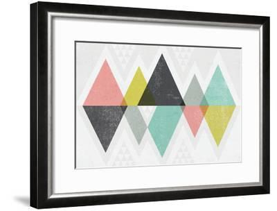 Mod Triangles II-Michael Mullan-Framed Art Print