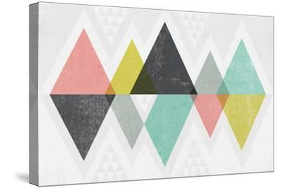 Mod Triangles II-Michael Mullan-Stretched Canvas Print