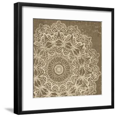 Contemporary Lace II Spice-Moira Hershey-Framed Art Print