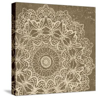 Contemporary Lace II Spice-Moira Hershey-Stretched Canvas Print